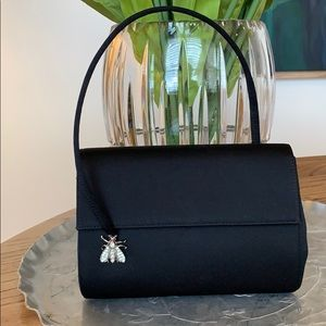 Rodo Luxury Bag Mini Satin W/ Rhinestone Insect